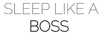 Sleep Like A Boss Logo