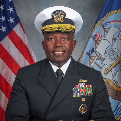 Rear Admiral Cedric Pringle, Commander, Expeditionary Strike Group 3 at Incoming Commandant, National War College