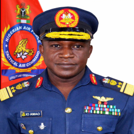 Air Vice Marshal Isaka Oladayo Amao, Air Officer Commanding Tactical Air Command at Nigerian Air Force