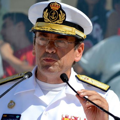 Vice Admiral Eugenio Díaz del Río Jaudenes, Chief of the Plans and Policy Division in the Naval Staff at Spanish Navy