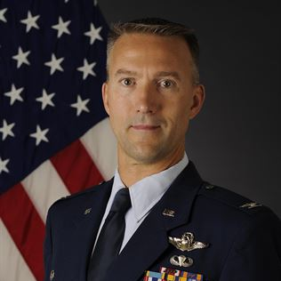 Colonel Jake Trigler, Commander of 354th Operations Group, 354th Fighter Wing at USAF