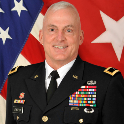 Major General Eugene (Gene) J. LeBoeuf, Commanding General, 79th Theater Sustainment Command at US Army Reserves