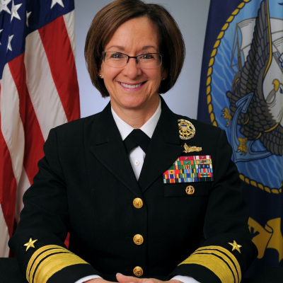 Vice Admiral Lisa M. Franchetti, U.S. 6th Fleet Commander, Naval Striking and Support Forces NATO Deputy Commander, U.S. Naval Forces Europe-Africa Joint Force Maritime Component Commander Europe at U.S. Navy