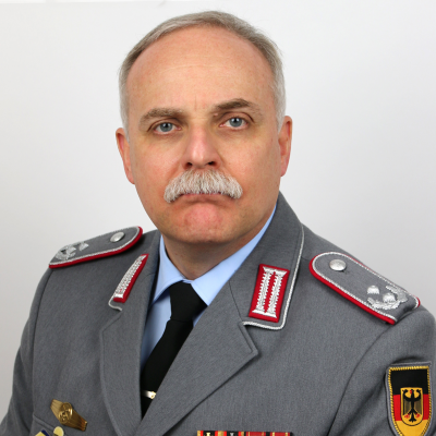 Lieutenant Colonel (GS) Armin Dirks, Planning Division II, Land Systems Roadmap Group, at German Ministry of Defence
