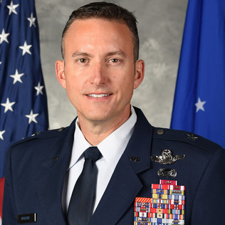 Brigadier General Robert G. Novotny, Commander 57th Wing, Nellis AFB at U.S. Air Force