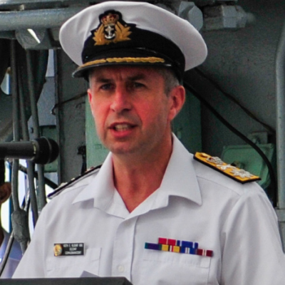 Vice Admiral Keith Edward Blount CB OBE FRAeS