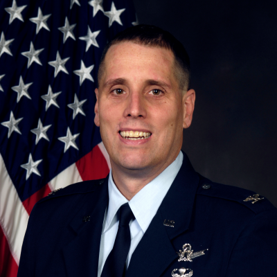 Col. Timothy Lawrence, Director, Information Directorate, and Commander, Detachment 4 at USAF