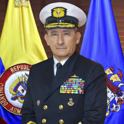 Admiral Evelio Enrique de Jesus Ramírez Gáfaro, Commander at Colombian Navy