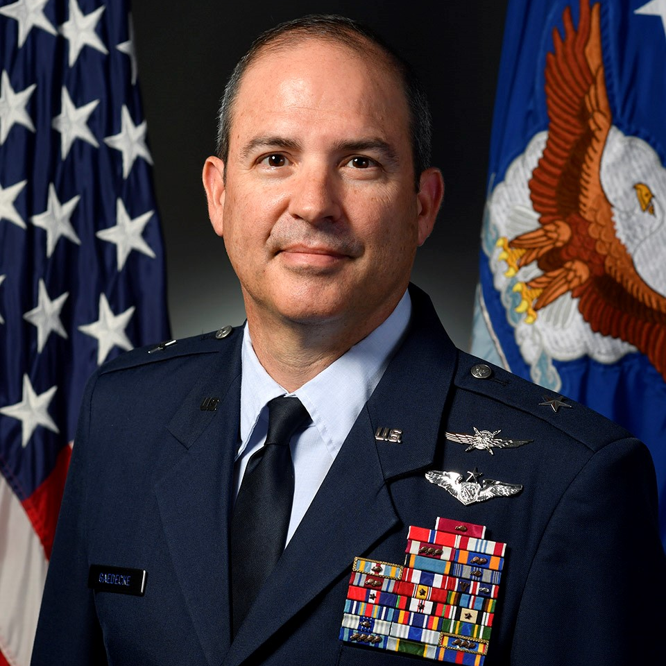 Brigadier General David Gaedecke, Director, Cyberspace Operations and Warfighting Integration, Office of Information Dominance and Chief Information Officer at Office of the Secretary of the Air Force