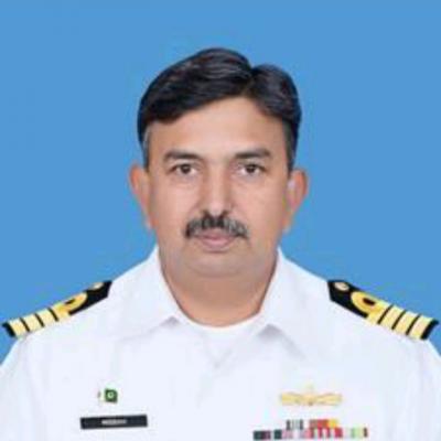 Capt. Misbah- Ul-Amin (Tamgha-e-Imtiaz Military), Commanding Officer, Pakistan Maritime Security Agency at Pakistan Navy