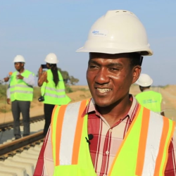 Eng. Machibya Masanja, Head of Standard Gauge Railway Project at Rail Assets Holding Company (RAHCO), Tanzania