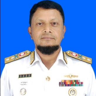 Rear Admiral Nazmul Hassan, NPP, ndc, ncc, psc,, Commander Bangladesh Navy Fleet at Bangladesh Navy