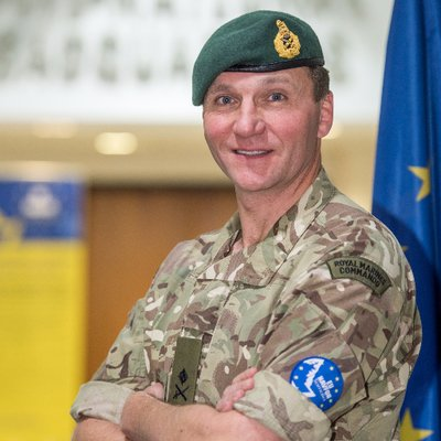Major General Charles Stickland, Commander at EUNAVFOR Somalia