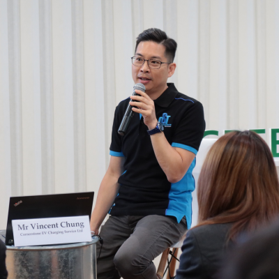 Vincent Chung, Business Development Manager at Cornerstone EV Charging Service Limited