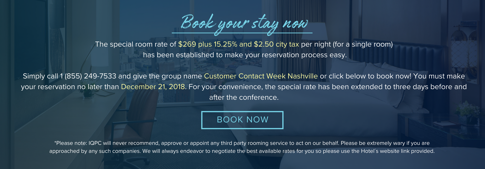 Customer Contact Week Nashville JW Marriott Pricing