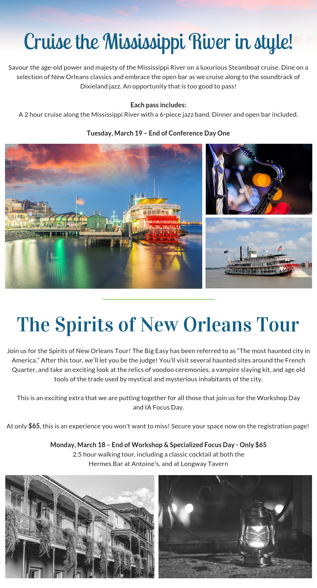 OPEX FS Steamboat Dinner Cruise and Spirits of New Orleans Tour for Business Transformation professionals