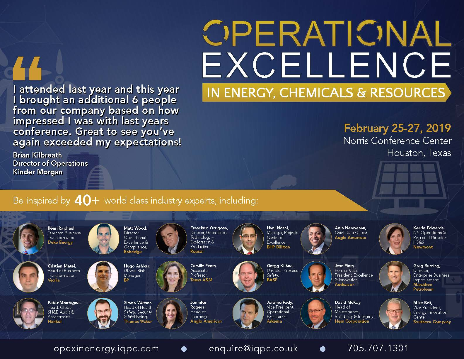 """Download the operational excellence in energy chemicals resources summit agenda"