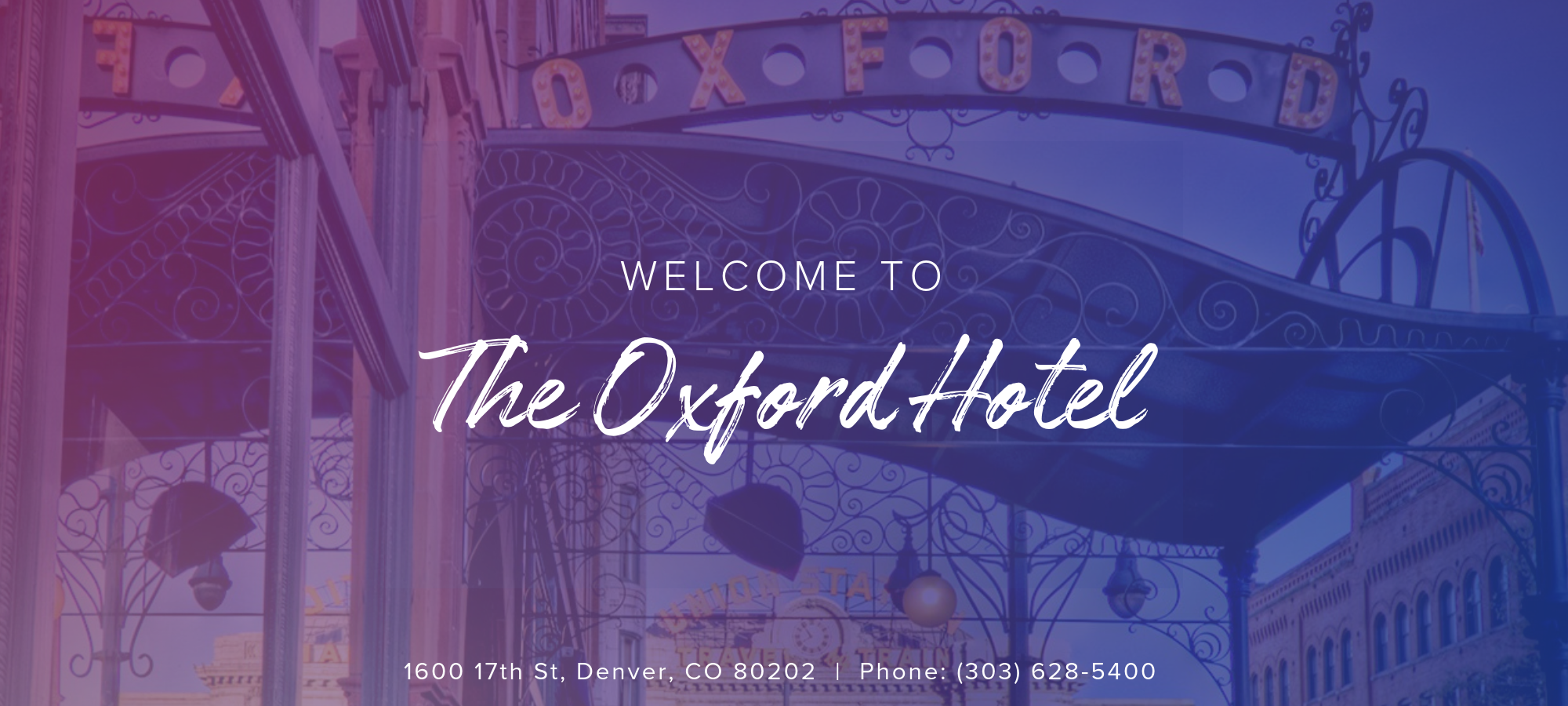 Join us at Experience Design Week at the Oxford Hotel in Denver, CO