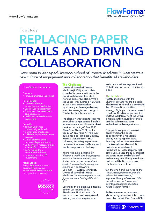 Case Study: Replacing Paper Trails and Driving Collaboration