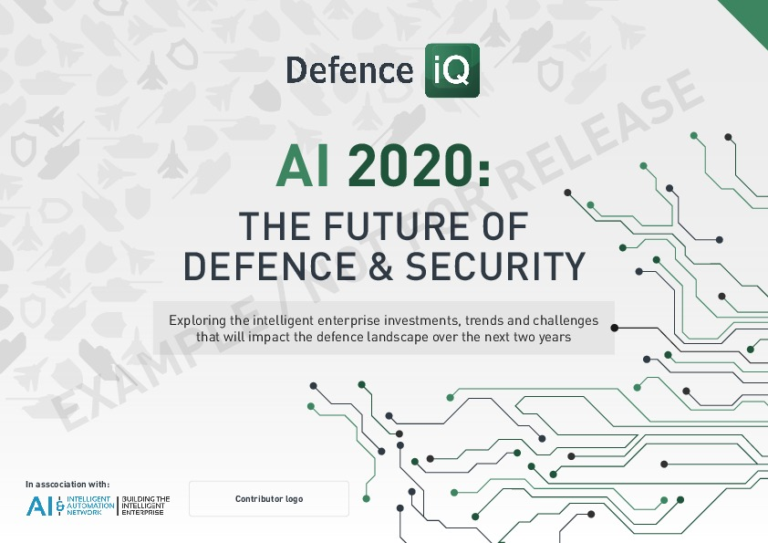 Defence Iq Sponsor Ai 2020 The Future Of Defence Security