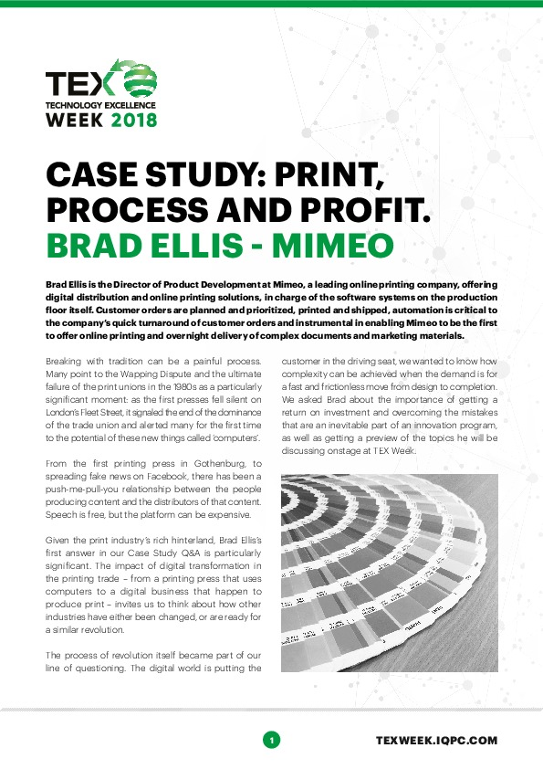 CASE STUDY: Print, process and profit | Process Excellence