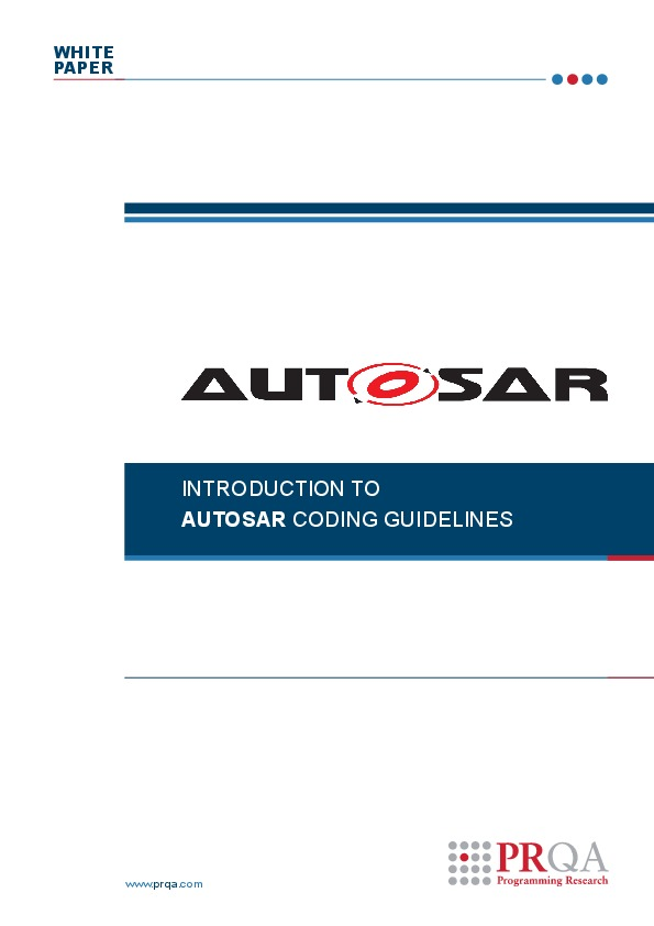Introduction to AUTOSAR coding guidelines | Automotive IQ
