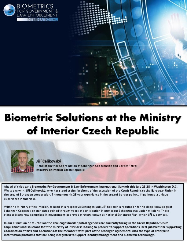 Biometric Solutions at the Ministry of Interior Czech Republic | IDGA