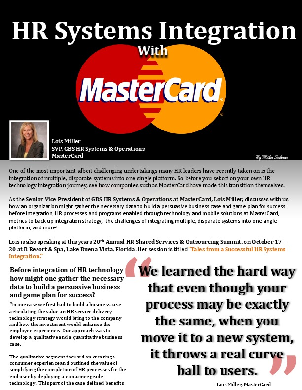 HR Systems Integration With MasterCard   The Shared Services