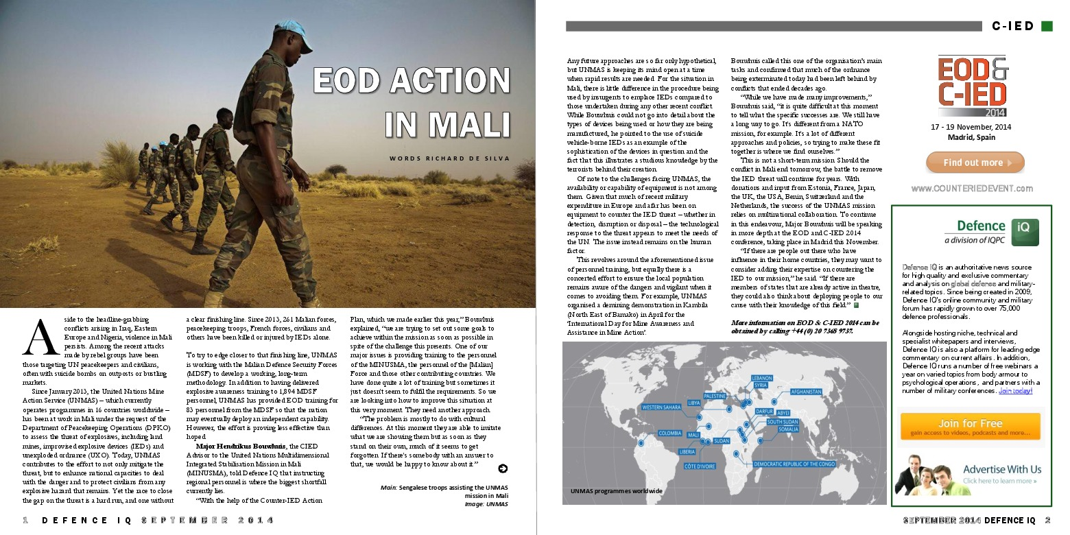 Why the IED problem in Mali is bigger than you think | Defence IQ