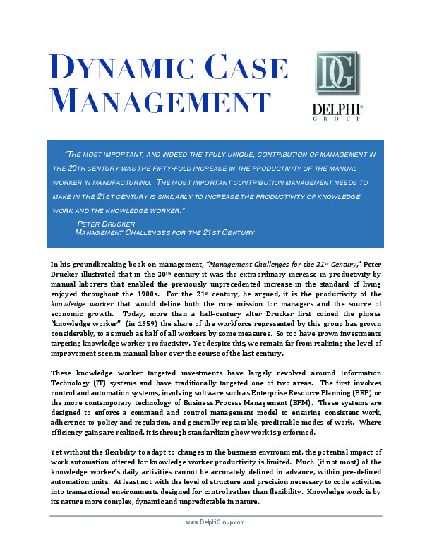 management challenges for the 21st century pdf