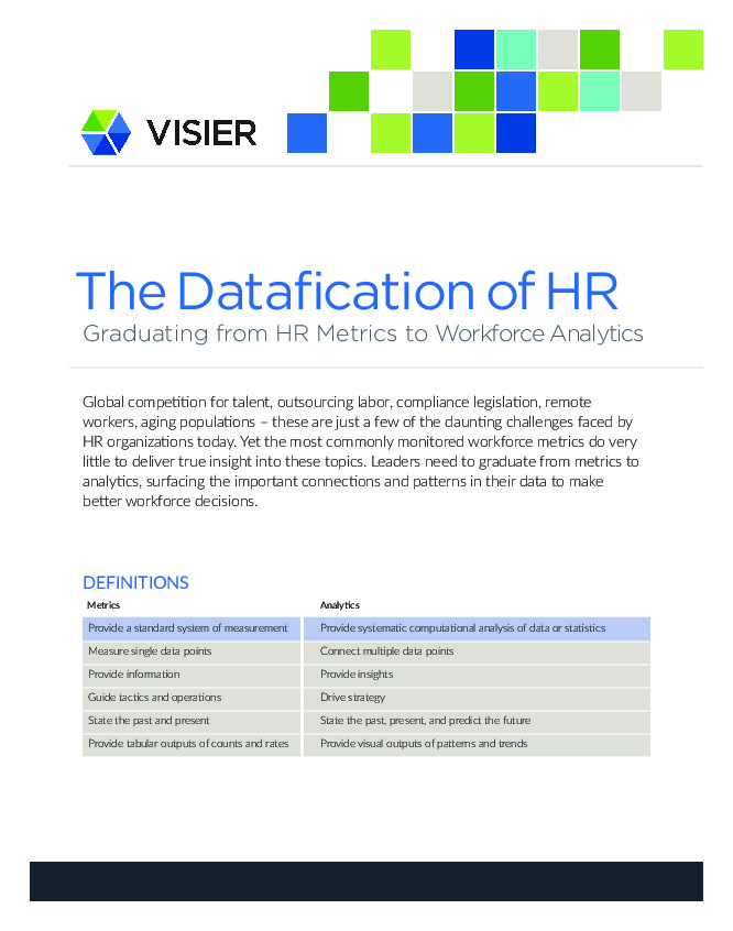 HR Exchange Network | The Datafication of HR: Graduating from ...