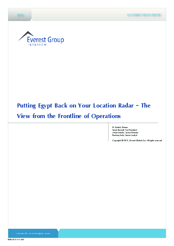 Egypt: Back on the Location Radar [Analyst Report] | The