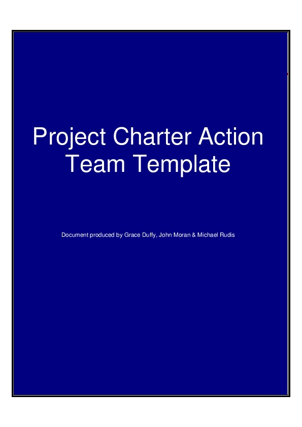 Creating A Project Team Charter