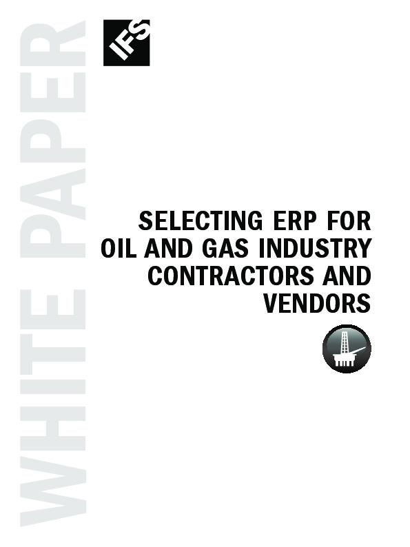 ERP: Enterprise Resource Planning for the Oil & Gas Contractor and