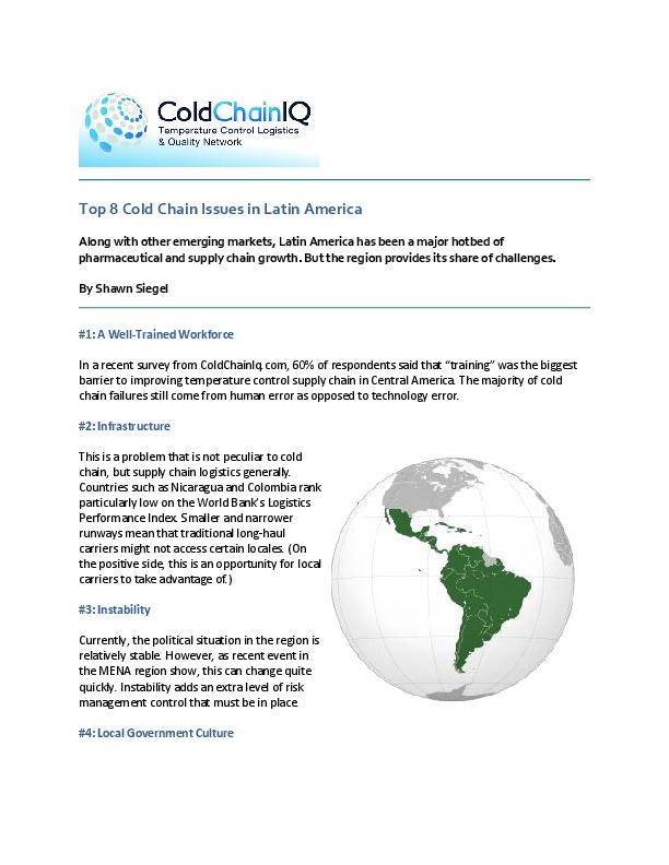 Top 8 Cold Chain Issues in Latin America | Pharma Logistics