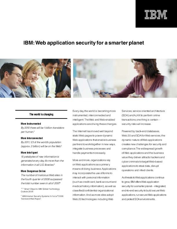 Web application security for a smarter planet | IDGA