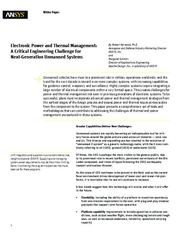 Electronic Power and Thermal Management:A Critical