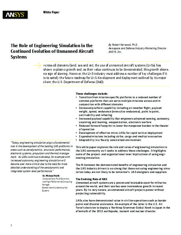 The Role of Engineering Simulation in the Continued