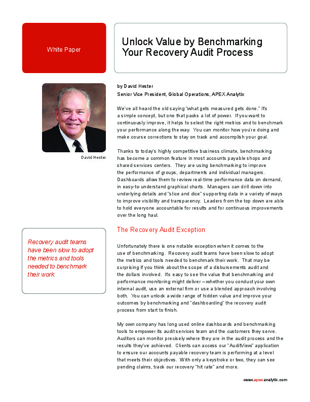 Tag   Recovery Audit   The Shared Services & Outsourcing Network