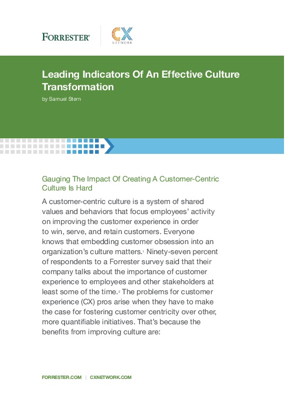 Forrester report on CX Network