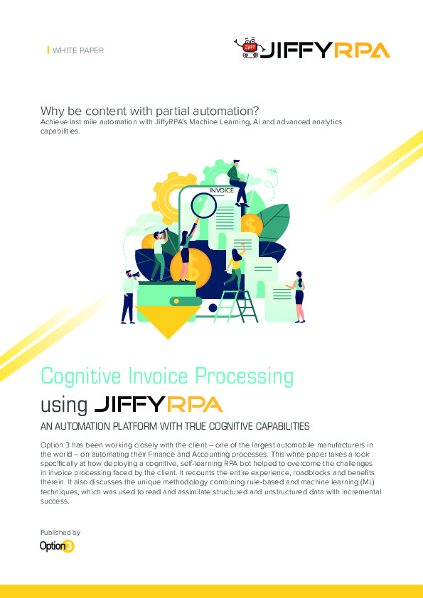 The Shared Services Outsourcing Network Cognitive Invoice Processing - Invoice linkedin
