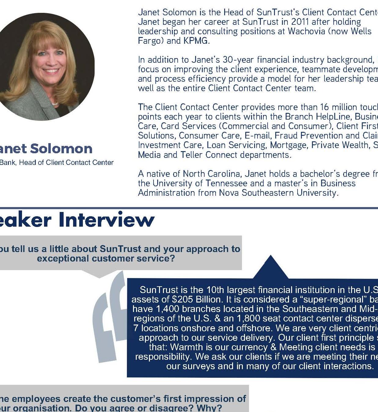 Speaker Feature Janet Solomon