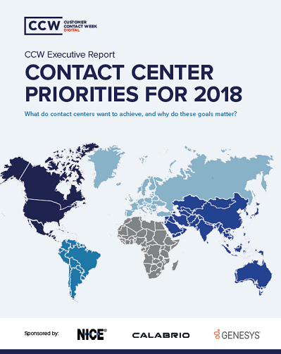 CCW Executive Report: Contact Center Priorities for 2018