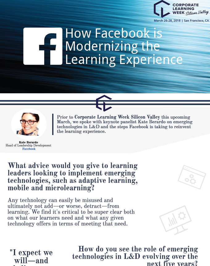 How Facebook is Modernizing the Learning Experience