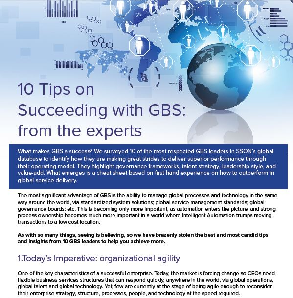 10 Tips on Succeeding with GBS: from the experts