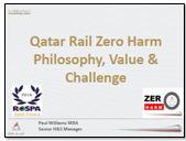 Qatar Rail Zero Harm Philosophy, Value & Challenge
