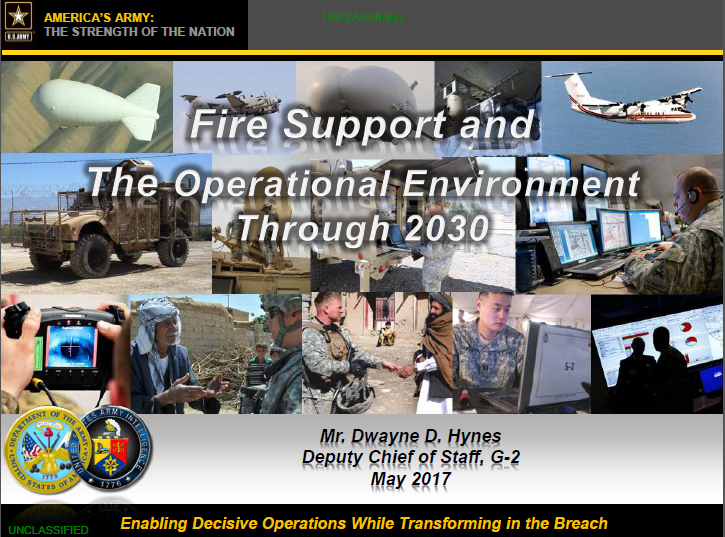 Fire Support and the Operational Environment Through 2030