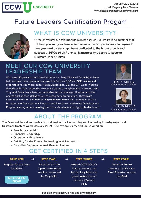 CCW University: Flyer