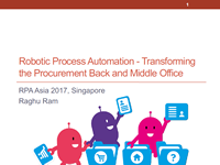 Robotic Process Automation - Transforming the Procurement Back and Middle Office
