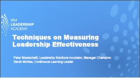 Techniques on Measuring Leadership Effectiveness